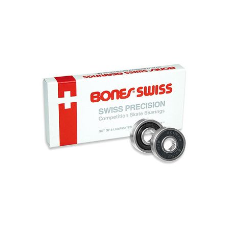 Bones Black Swiss Skateboard Bearings