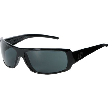Electric Charge Gloss Black & Grey Sunglasses