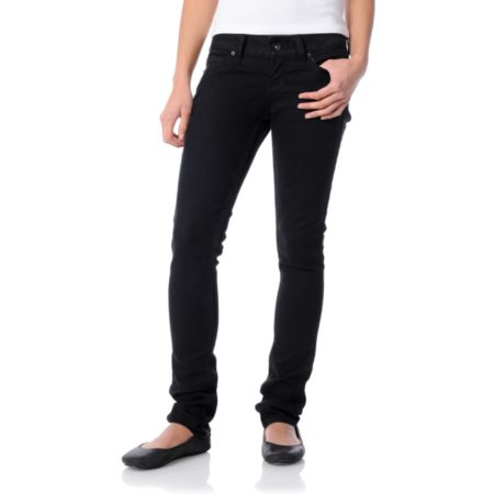 Empyre Girls Eve Edit Super Skinny Black Jeans