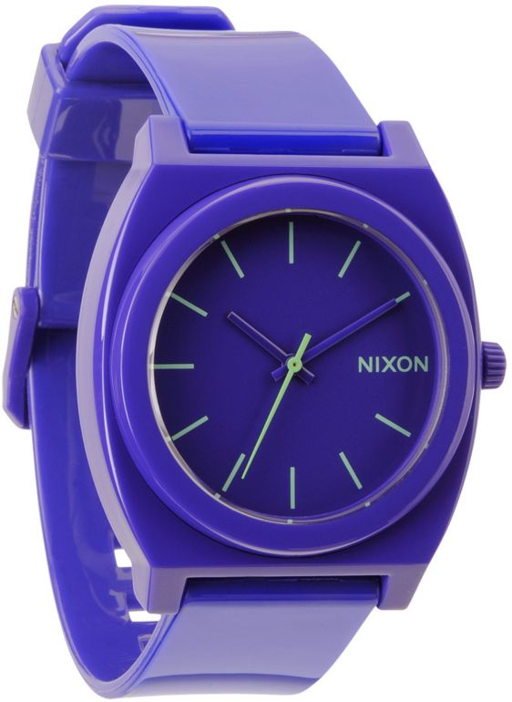 Nixon Time Teller Purple Watch