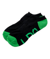 LRG Black & Green Ankle Socks