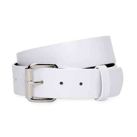 Empyre Solid Strap White Belt