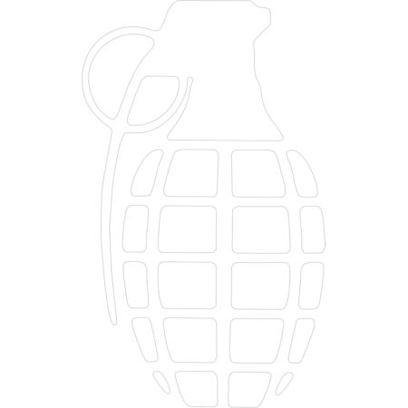 Grenade Solid White Sticker