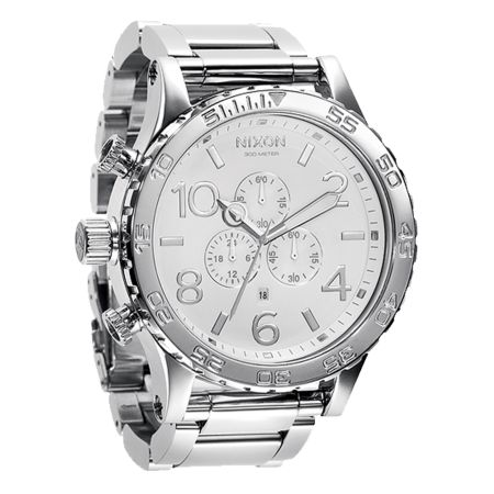 Nixon 51-30 High Polish White Chronograph Watch