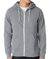 Zine Template Heather Grey Hoodie