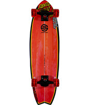 Santa Cruz SC Landshark Red & Black Complete Skateboard