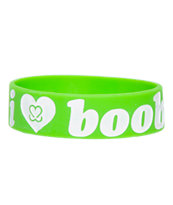 Keep A Breast Green I Love Boobies Bracelet