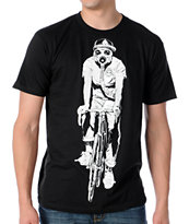 Obey Gas Mask Biker Glow In The Dark Black Tee Shirt