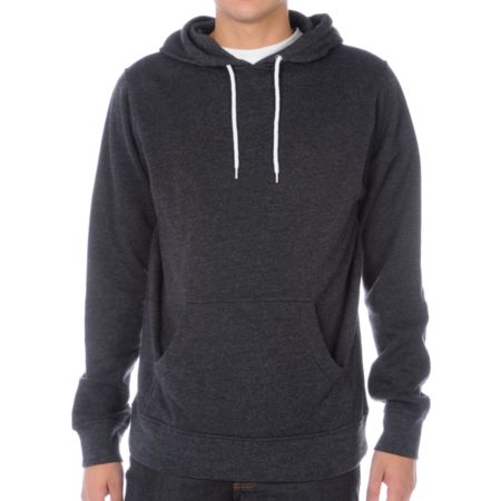 Zine Pulley Heather Black Pullover Hoodie