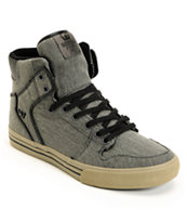 Supra Vaider Charcoal Canvas Shoe