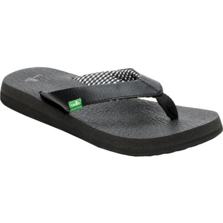 Sanuk Girls Yoga Mat Black Sandals