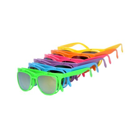Jack Martin Bueller Neon Flip-Up Sunglasses