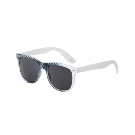 Jack Martin Frisky Business White Striped Sunglasses