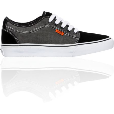 Vans Chukka Low Black Chambray, White & Orange Shoe