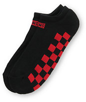 Vans Low Black & Red Checkerboard Ankle Socks