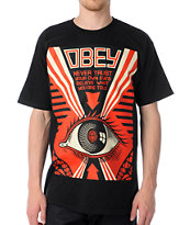 Obey Never Trust Your Own Eyes Black Tee Shirt