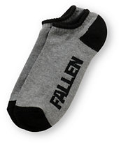 Fallen Shoes Black & Grey Ankle Socks