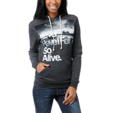 Glamour Kills Hunting To Feel Alive Charcoal Hoodie
