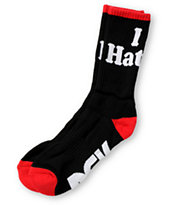 DGK Haters Black Crew Socks