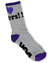 DGK Haters Grey Crew Socks