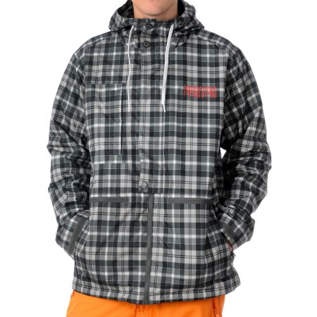 Burton 2011 Gianni Black Tartan Plaid Snowboard Jacket