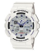 G-Shock GA100A-7ACR White Watch