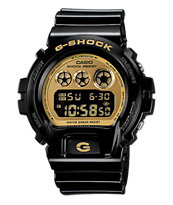 G-Shock DW6900CB-1 Classic Black & Gold Watch