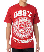 Obey Star Flower Red Tee Shirt