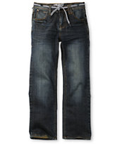 Empyre Boys Skeletor Resin Wash Slim Jeans