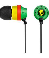 Skullcandy Inkd Rasta Earbud Headphones