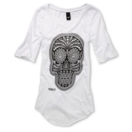 Obey Girls Day of the Dead Dance Tee Shirt