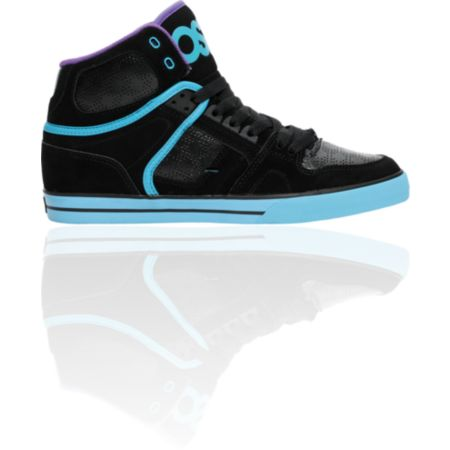 Osiris NYC 83 VLC Black, Teal & Purple Shoe