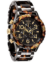 Nixon 42-20 Chrono Black And Tortoise Watch