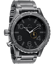 Nixon 51-30 Tide Gunmetal & Black Analog Watch