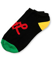 LRG Black Rasta Ankle Socks