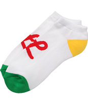 LRG Jumpoff White Rasta Ankle Socks