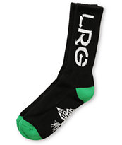 LRG Black & Green Canvas Crew Socks