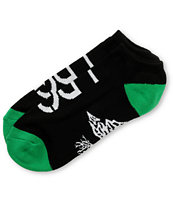 LRG Black & Green Canvas Ankle Socks