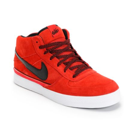 Nike 6.0 Mavrk Mid 2 Sport Red Black & White Shoe