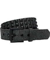 Empyre Wolfpack Herringbone Black Pyramid Studded Belt