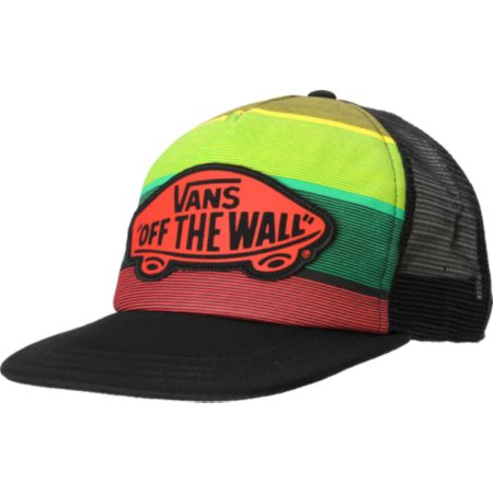 Vans Girls Beach Rasta Trucker Hat