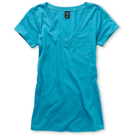 Zine Girls Carribean Sea V-Neck Tee Shirt
