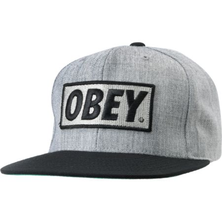 Obey Original Heather Grey Snapback Hat
