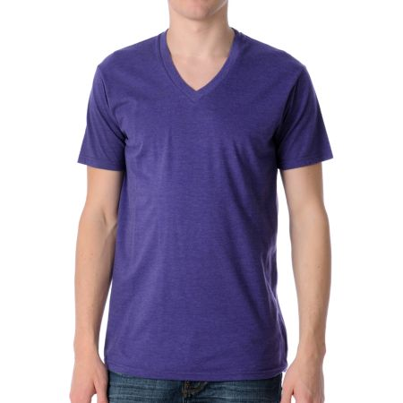 Zine Deuce Grape V-Neck Tee Shirt