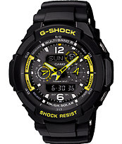 G-shock G-aviation Gw2500b-1a Solar Black G-shock Watch