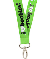 Keep A Breast Foundation I Love Boobies Green Lanyard
