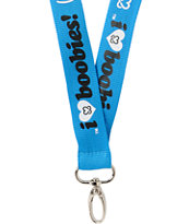 Keep A Breast Foundation I Love Boobies Turquoise Lanyard