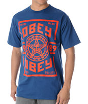 Obey Trusted Quality Blue Tee Shirt