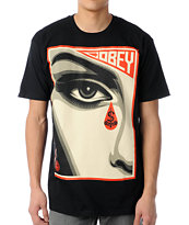 Obey Eye Alert Black Tee Shirt