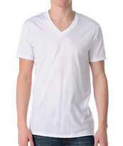 Zine Deuce White V-Neck Tee Shirt